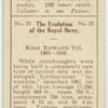 "King Edward VII. 1901-1910. [The battlecruiser ""Invincible""]."