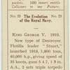 """King George V. 1910. [The destroyer """"Stuart.""""]"""