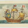 A four-masted warship of the Elizabethan navy.
