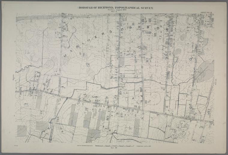 Sheet No. 14. [Includes Mariners Harbor, Washington Avenue, Simonson Avenue Van name Avenue, and Fairview Avenue.]