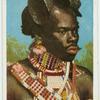Zulu mit Scheibenfrisur.