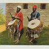 Trommelspieler der Kamerun-Neger.