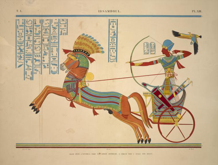 Monuments de l'Égypte et de la Nubie, d'après les dessins exécutés sur les lieux sous la direction de Champollion-le-jeune, et les descriptions autographes qu'il en a rédigées <br> 1835-1845