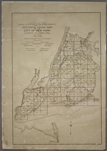 Index to Sectional aerial maps of the City of New York / [photographed and assembled under the direction of the chief engineer, July 1st, 1924].