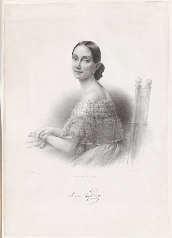 Fascinating Historical Picture of Amalia Galster Taglioni in 1835