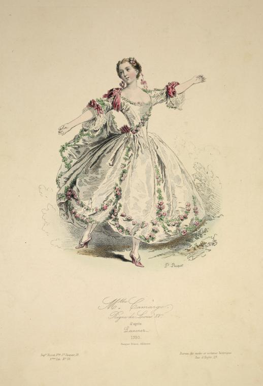 Fascinating Historical Picture of Marie Anne de Cupis de Camargo in 1862