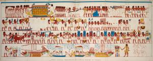 Great funeral procession of a royal scribe at Thebes.