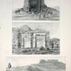 1. Abousir [Abu Sir Site] ; 2. Die Ruine Bel del Rum, auf der Strasse von Siwah nach Augila, ... ; 3. Zwei gegen den Nil gekehrte Kapellen oder Andachtsorte in den Steinbrüchen von Gebel-el-Silsili [Gebel el-Silsila] in Ober-Aegypten.