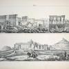 1. Ansicht des Hauptortes der Oase des Ammon, Siwah-Kebir, von der Morgenseite, ... ; 2. Ansicht des Tempels der Isis und eines kleinen peripterischen Templels auf der Insel Philä [Philae], ...
