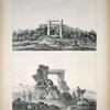 1. Die Trümmer des Ammontempels zu Siwah; 2. Dieselben Ruinen von der Südseite, in der Ferne das Dorf Schargieh.