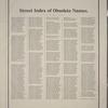 Street Index of Obsolete Names.