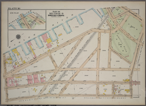 Plate 10, Part of Section 9, Borough of the Bronx. [Bounded by E. (Harlem River Piers) Exterior Street, Jerome Avenue, E. 161st Street, Gerard Avenue and E. 150th Street.]