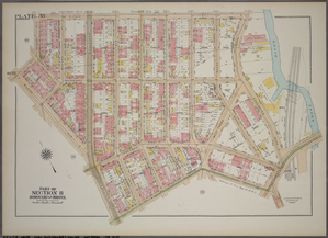 Plate 38, Part of Section 11, Borough of the Bronx. [Bounded by E. 172nd Street, Edgewater Road, Westchester Street, Home Street, Southern Boulevard, Wilkins Avenue, E. 170th Street and Seabury Place.]
