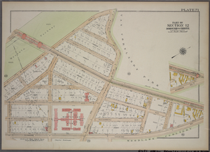 Plate 71, Part of Section 12, Borough of the Bronx. [Bounded by E. Jerome Avenue, Bainbridge Avenue and E. 208th Street.]