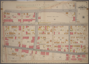 Double Page Plate No. 4, Part of Ward 24, Section 11. [Bounded by Webster Avenue, 173rd Street, Park Avenue, E. 174th Street, Fulton Avenue and St. Paul Place.]