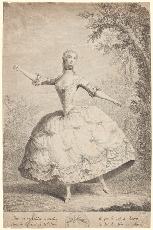 Fascinating Historical Picture of Auretti, Anne in 1745