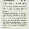 Mrs. Beryl Markham.