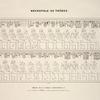 Nécropol de Thèbes. Tableau de la famille d'Amounôph 1-er. Tiré du tombeau de Sonhem, auditeur de justice, dans la salle du trône.