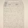 Monuments égyptiens. Stèle du régne de Scherai, XVIIIe. dynastie.