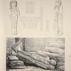 Monuments égyptiens. 1-5. Statuettes d'un fils de Ramsès II; 6. Colosse de Ramsès II à Wady Esseboua.