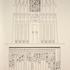 Temple de Khons (Thèbes). 1. Bas-relief représentant l'entrée du palais; 2. Liste des fils d'Amon-se Pehôr.