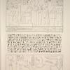 Thèbes, Palais de Karnac. 1. Gravé sur le IIIe. pylône de l'avenue du sud; 2. Architrave du Thoutmoseium; 3. Temple de Thoth.