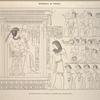 Nécropole de Thèbes. Amounôph III recevant les hommages de Schamthé et des principaux chefs.