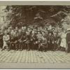 [Students and the Concert artistes in front of Regensen College, Denmark.]