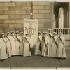 [Student pages with the banner 'International Woman Suffrage Alliance' at the Congress, Stockholm 1911.]