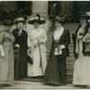 [Dr. Anna Howard Shaw with other members.]