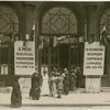 In front of Congress headquarters.]