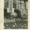 Mrs. Carrie Chapman-Catt, center, in the Budapest Congress.]