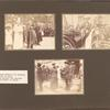 Visits to state shelters for children. Mr. Paul Ruffy in charge; Mrs. Szirmay getting into carriage; RS [Rosika Schwimmer] receiving flowers in Szeged.