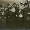 [Dr. Belva A. Lockwood (front center),  Dr. Anita Augspurg, and Bertha Engel (standing extreme right front). The rest [are] Women's Republic members.]
