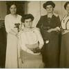 [From L. to R.: Paula Pogány, Rosika Schwimmer, Franciska Schwimmer and Jane Dirnfield, 1913 Congress.]