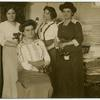 [Group photo from left to right: Paula Pogány, Rosika Schwimmer, Jane Dirnfield, and Franciska Schwimmer.]