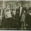 Suffragette procession, Oct. 7, 1911.  [Miss Clemence Housman.]