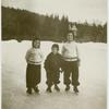 [Roth children standing on the snow.]