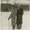 [Mr. and Mrs. Roth on the snow, in front of a mountain.]