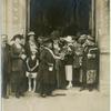Mrs. Catt in the center. [Carrie Chapman Catt in Geneva, early 1910s.]