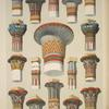 Egyptian no. 3: captials of columns, showing the varied applications of the lotus and papyrus.