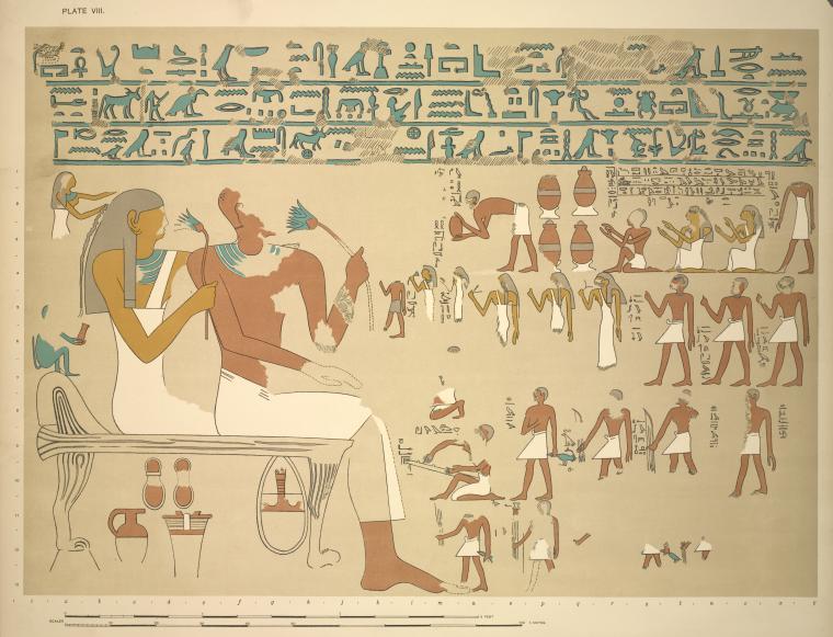El-Kab  Wall drawings and monuments of El Kab  J. J. Tylor. XXe s.
