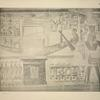 The bark of Ra, with its naos and curtain hiding the god, occupies the width of the plate. ...
