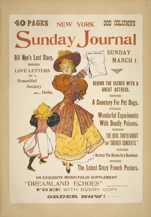 New York Sunday journal. Sunday March 1. 1896.