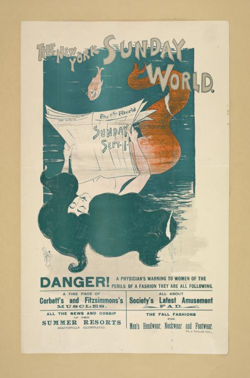 The New York Sunday world. Sunday Sept 1. 1895.