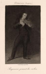 Paganini jouant du violon.