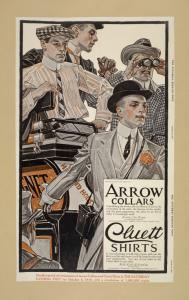Arrow collars. Cluett shirts. Saturday evening post, Oct 8 1910.