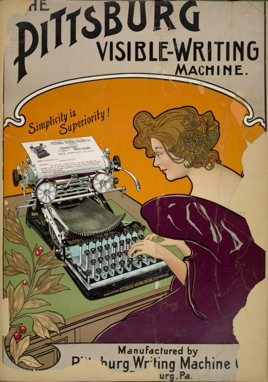 The Pittsburg [sic] visible-writing machine.