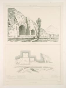 Tak-i Bostan. Vue générale; Plan du monument.