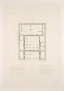 Persépolis. Plan du palais no. 3 du plan général.